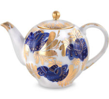 20 fl oz Brewing Teapot by Imperial Lomonosov Porcelain Golden Garden Lomonosov
