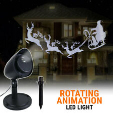 LED Christmas Projector Moving Rotating Animation Light Decoration Outdoor Party