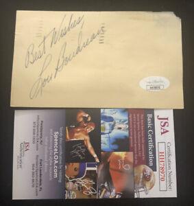 Lou Boudreau Autographed Post Card VINTAGE JSA Hall of Fame INDIANS
