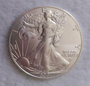 2021 $1 American Silver Eagle 1 oz Brilliant Uncirculated Type 2 #A121