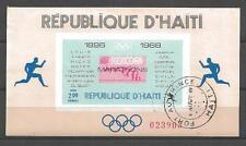 Jeux Olympiques d' été Haiti (66) bloc oblitéré