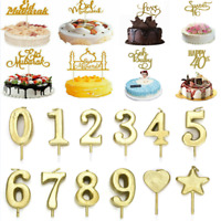 Eid Mubarak Ramadan Glitter DIY Cake Toppers Hajj Mubarak Cake Decor Topper 1PC