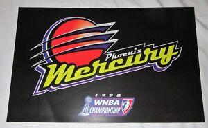 PHOENIX MERCURY 1998 POSTER WNBA Championship vs Houston Comets X Factor