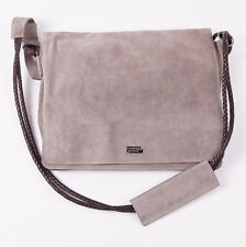 NWT $1495 CANALI EXCLUSIVE Beige Suede Leather Shoulder Messenger Bag Briefcase