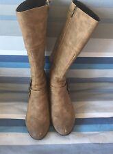 Ladies Brown Boots Sz 37 4
