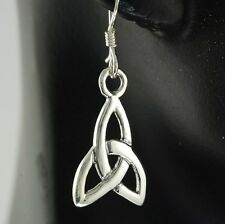 925 Solid Sterling Silver, ep163 Celtic Trinity Knot Silver Earrings,