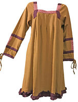 Nwt SACRED THREADS ochre ribbon knit cotton leggings DRESS TUNIC S Free shipping