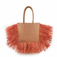 Women Shoulder Bags Bohemian Tassel Totes Woven Straw Lady Summer Beach Handbags
