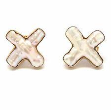 Maz Gold Biwa Pearl Earrings