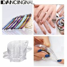 6Pcs Striping Tape Lines Dispenser Case Box Holder Nail Art Tips Manicure Tool