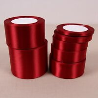 Wine Silk Satin Ribbon Wedding Party Decoration Gift Wrapping Christmas Sewing