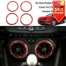 Interior Air Vent Outlet Ring Cover Decor For Chevrolet Camaro 2017+ Accessories