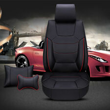 Deluxe Full Set Front+Rear Seat Cover with Pillow for 5-Seat Car  PU leather