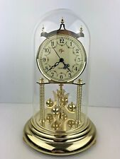 Vintage Elgin Mantel Quartz Clock Glass Dome Movement Made in Japan Gold Tone