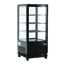 Polar Countertop Chilled Display Cabinet Black 68 Ltr - G211 Commercial Catering