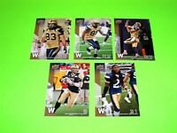 5 WINNIPEG BLUE BOMBERS UPPER DECK CFL FOOTBALL CARDS 93 97 98 99 149  #-1