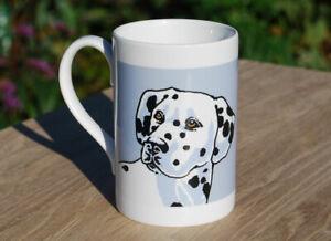 Dalmatian - single porcelain mug with original illustration.