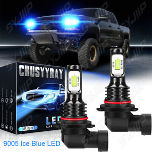 For 2019 2020 2021 Silverado 1500 WT Custom Trail Boss 9005 LED Headlight Bulbs