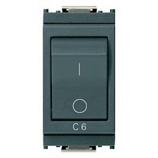 VIMAR IDEA INTERRUTTORE MT 1P+N C6 120-230V GRIGIO 16505.06