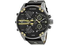 Diesel Mr Daddy Mens Black Leather Multifunctional Watch DZ7348