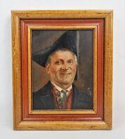 Antique GEORGE ROESSLER (German, 1861-1925) Portrait Oil Painting Gentleman