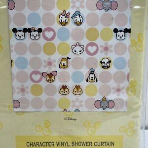 Disney Home Cuties Character Vinyl Shower Curtain Bathroom Decor RARE NIP NOS