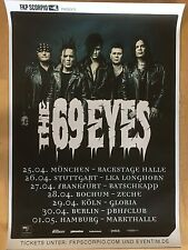 THE 69 EYES TOUR 2016 - orig.Concert Poster - Konzert Plakat  NEU