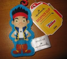 Jake and the Neverland Pirates Hallmark backpack tag Disney New clip