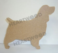 SPANIEL DOG SHAPE IN MDF (160mm x 18mm thick)/WOODEN CRAFT SHAPE/DECORATION