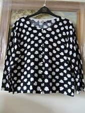 Black/white print cardigan Hobbs size L fit 14/16 BNWOT