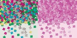 1 PACK 18TH BIRTHDAY CONFETTI / TABLE SPRINKLES PINK/ MULTI PARTY DECORATIONS*