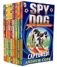 Spy Dog Series Collection Andrew Cope 8 Books Pack Set Superbrain, Rollercoaster