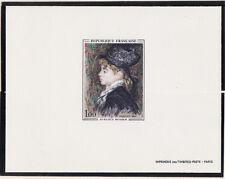épreuve de luxe timbre France  tableau   modèle  Auguste Renoir  1968 num: 1570