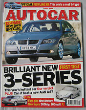 Autocar 18/1/2005 featuring BMW Audi, Seat, Jaguar, Bentley