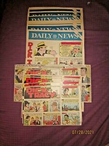1980 -27 WEEKS DICK TRACY  COLORED SUNDAY NEWSPAPER COMIC STRIPS