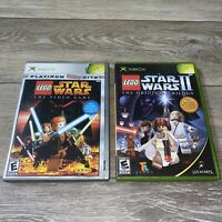 LOT Of 2- LEGO Star Wars PLATINUM HITS & LEGO Star Wars 2 (Xbox Games)