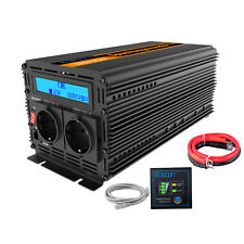 Onduleur 12V 220V Convertisseur 2000W 4000W Power Inverter LCD display Softstart