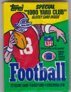 1986 Topps FB Wax Pack. RICE, YOUNG, WHITE RC?