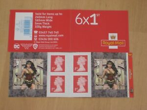 2021 PM83 Cylinder Booklet - WONDER WOMAN  6 x 1st on PB-sL SBP2i Inverted Paper