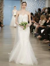 AUTHENTIC Oscar de la Renta Alexa 55E05 Wedding Dress Lace Beading Embroidery 8