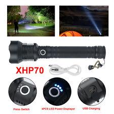 Taktisch Taschenlampe 900000 Lumen Zoombar XHP70 LED Wiederaufladbar 26650Akku