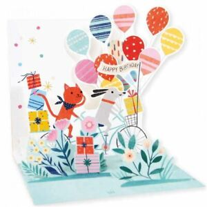Pop-Up Greeting Card Trearures by Up With Paper - Dog and Cat Bike Ride