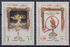 Qatar 2000 ** Mi.1167/68 Tennis Vögel Birds Falke Falcon