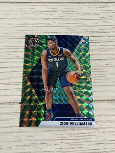 2019-20 Zion Williamson Mosaic Green Sticker - New Orleans Pelicans - NBA 🔥🔥