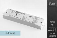 SET: LED-Funk-Dimmer 1-Kanal, 4X4A, RF-Mini-Fernbedienung Knopf