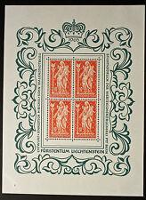 Francobollo LIECHTENSTEIN Stamp Yvert e Tellier n°397 x4 Foglio Di Fatto N° Y5
