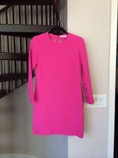 Celine Phoebe Philo Longsleeve Shift Dress In Pink / Fuchsia Size 36
