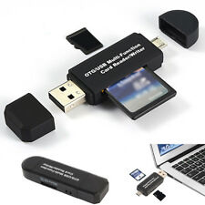 Micro USB OTG to USB 2.0 Adapter SD Card Reader For Android Phone Tablet PC US