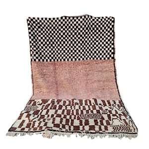 Authentic beni ourain, Abstract Art Ourika Moroccan Berber Carpet