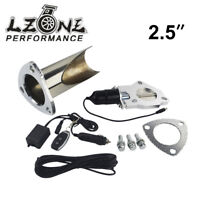 """2.5"""" 63mm Electric Stainless Exhaust E-Cut Cutout Pipe with Remote control Kit"""
